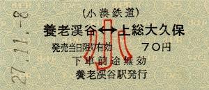 養老渓谷⇔上総大久保(小)