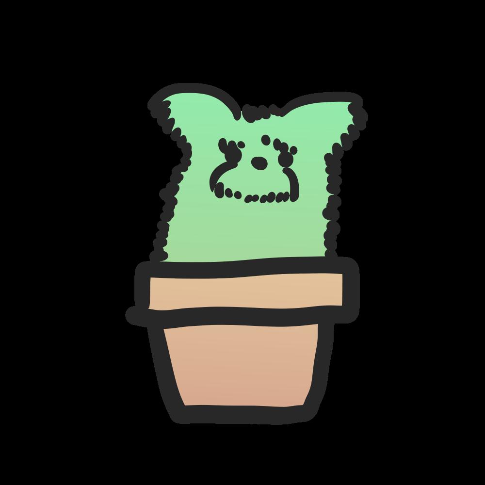 サボテン犬