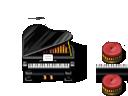REFMAP 小さめのピアノとピアノ椅子単体