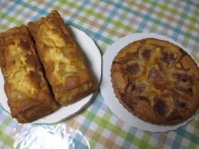 アップルケーキとフィグのタルト