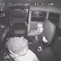 夜行バスのカメラ映像