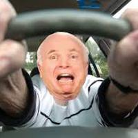 慌てて運転
