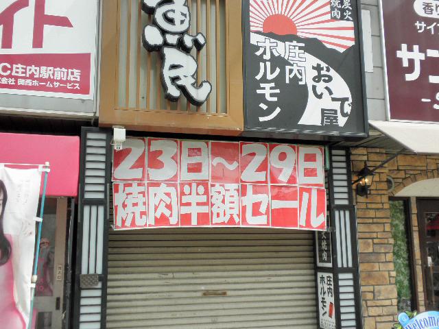 庄内ホルモン半額セール (1)