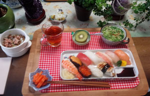 お昼はお寿司で!