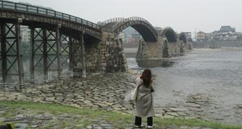 イヴままさんと錦帯橋1