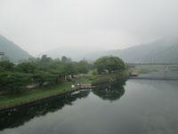川面がきらきら 錦川