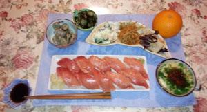 晩御飯 お寿司にしました
