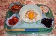 夜中に卵ご飯a