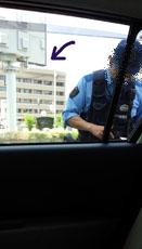 警察本署が見えてます