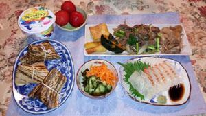 鯛お刺身・焼肉・煮物
