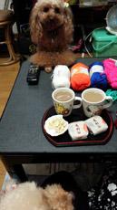 お茶の後 編み編みタイム1