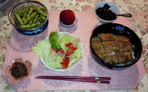 土用ウナギの晩ご飯
