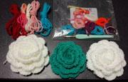 最後の編みバラ