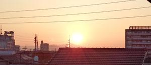 今朝の朝陽 12日