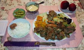 実家からのお肉で晩御飯