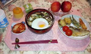 鶏煮込みうどん+天ぷら