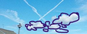 親子プードル雲
