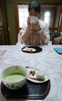 お月見♪お抹茶中