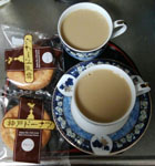 お茶を飲みながら