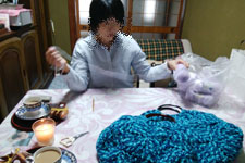 一緒に編み物開始1