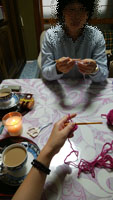 一緒に編み物開始2