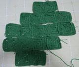 毛糸バック 繋ぎ方