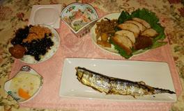 お昼ご飯 イワシ・鶏南蛮・春雨サラダ