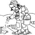 融雪剤の散布1