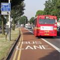 左端にあるバス専用道路