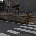 横断歩道と安全地帯