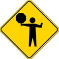 交通指導員の標識
