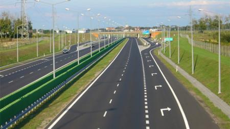 高速道路に設けられている区画線