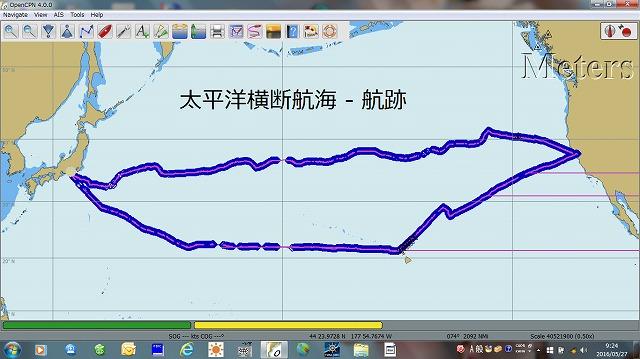 0.太平洋横断航海 全航跡図
