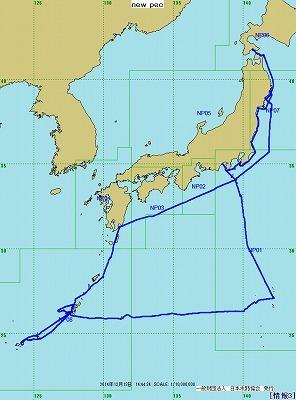 2014年航跡図-日本全図