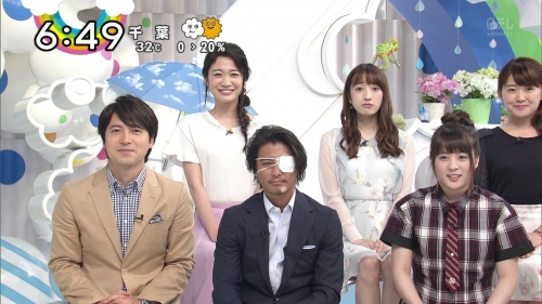 【画像】TOKIO山口達也、眼帯姿で「ZIP!」出演 自転車転倒で顔面負傷1
