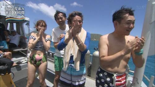【AKB48】小嶋陽菜、美腹筋&くびれ際立つビキニショット披露するも、画像修正か?テレビで下腹ぽっこり姿を流されるwww6