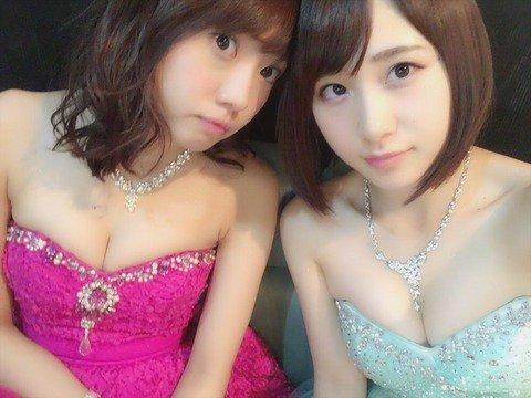 【AKB48】キャバクラドラマ『キャバすか学園』 セクシー衣装が大好評「胸元がエロい」「ぴちぴちのお肌が眩しい。。」3