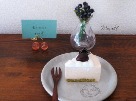 栗のムースケーキ