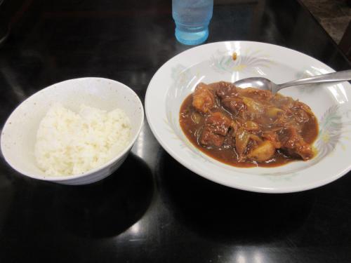 牛肉カレー煮とライス