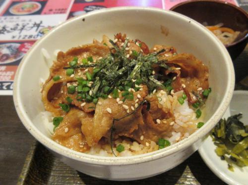 ミニ豚カルビ丼