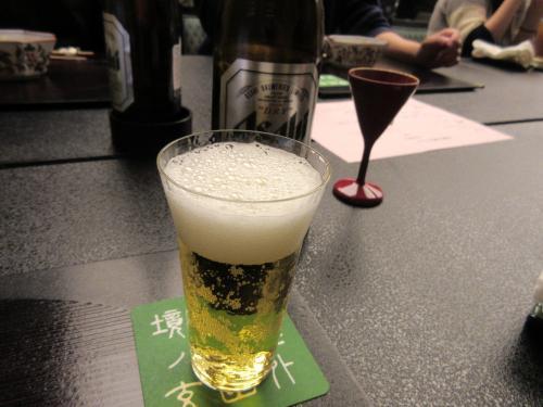 乾杯の後はビール