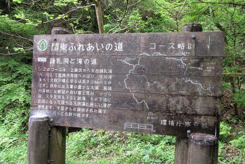 林道終点の看板