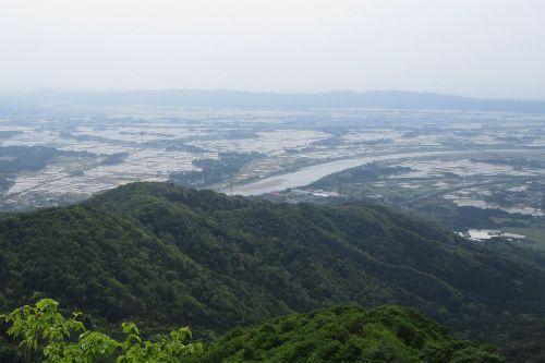 阿賀野川と水田
