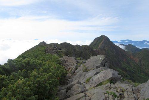 赤岳と北岳