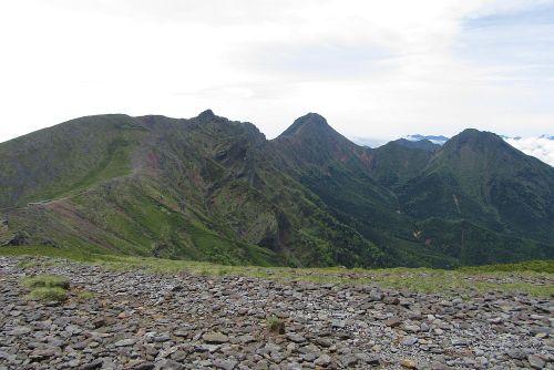 南八ヶ岳の山並み