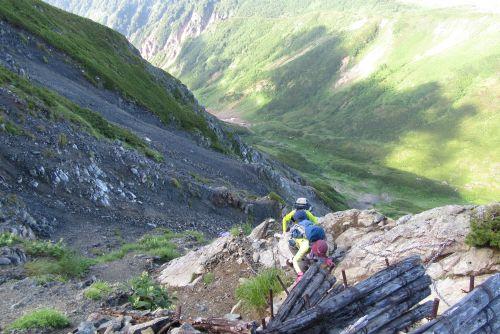 獅子岳への急登