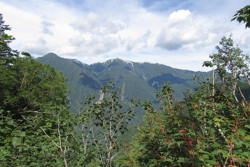 鳳凰三山が見えた