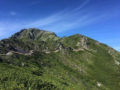 小太郎分岐から見た北岳