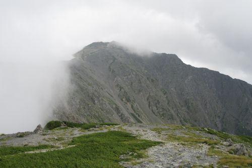 中白根山からみた間ノ岳