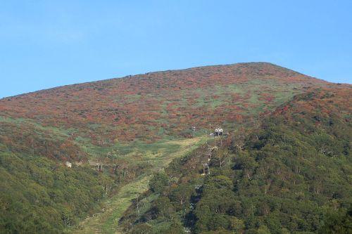 紅葉した箕輪山